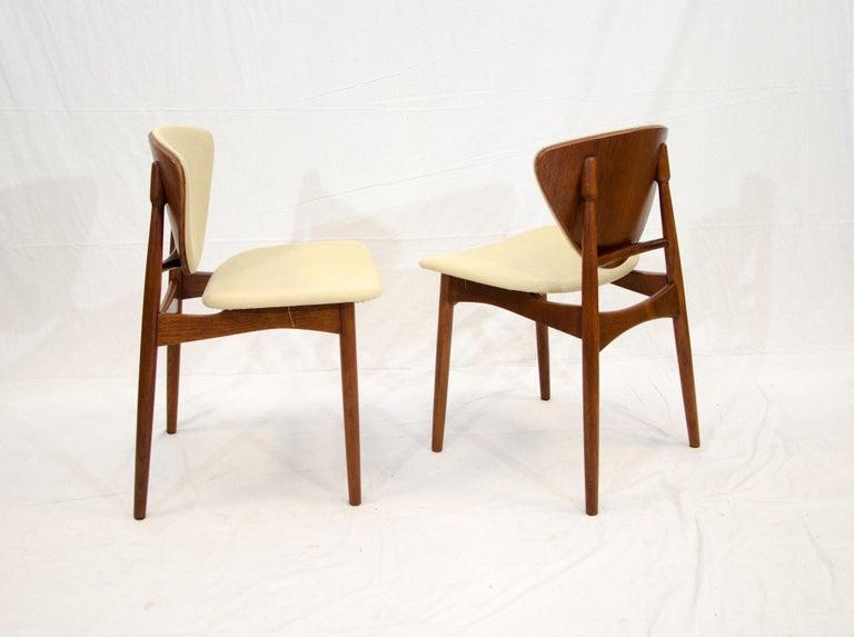 Set of Six Danish Teak Dining Chairs, Arne Hovmand Olsen For Sale 10