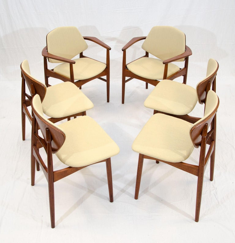 Set of Six Danish Teak Dining Chairs, Arne Hovmand Olsen In Excellent Condition For Sale In Crockett, CA