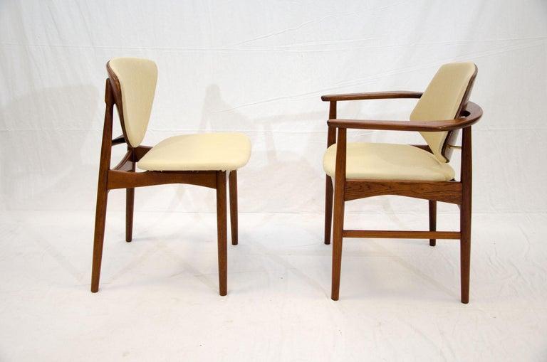 20th Century Set of Six Danish Teak Dining Chairs, Arne Hovmand Olsen For Sale