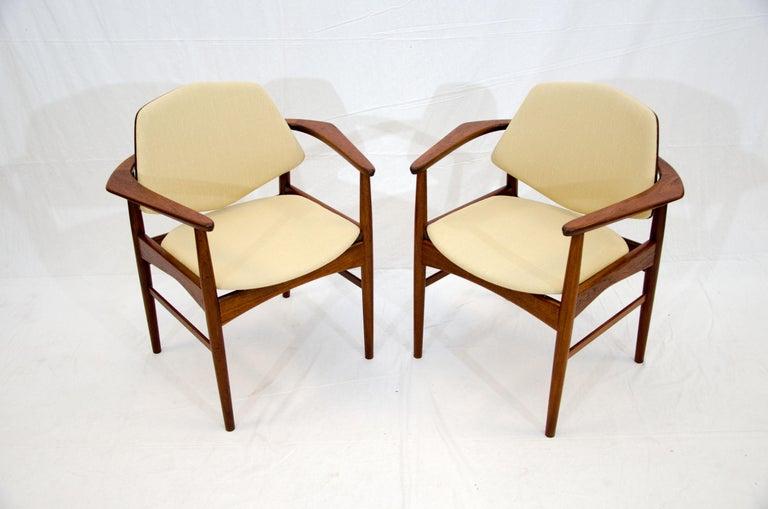 Set of Six Danish Teak Dining Chairs, Arne Hovmand Olsen For Sale 2