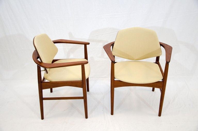 Set of Six Danish Teak Dining Chairs, Arne Hovmand Olsen For Sale 3