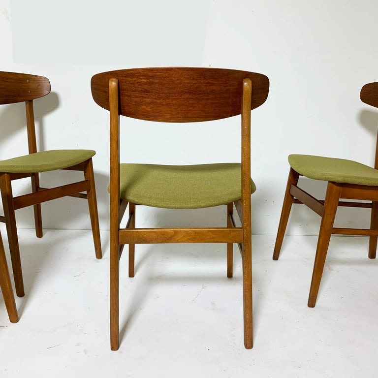 Mid-20th Century Set of Six Danish Teak Dining Chairs by SAX, circa 1960s