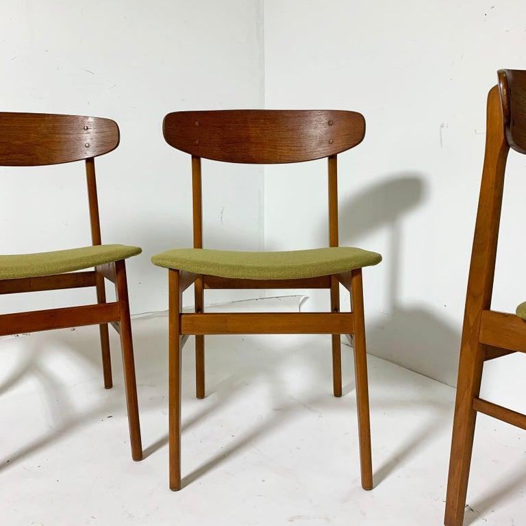 Set of Six Danish Teak Dining Chairs by SAX, circa 1960s 1