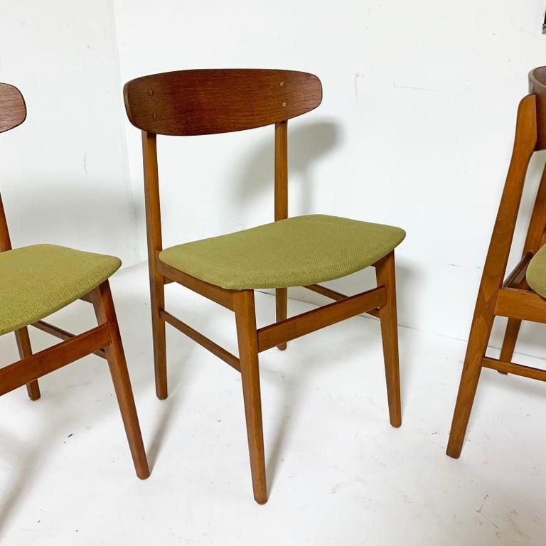 Set of Six Danish Teak Dining Chairs by SAX, circa 1960s 2