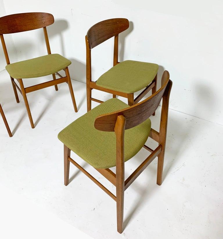 Set of Six Danish Teak Dining Chairs by SAX, circa 1960s 3