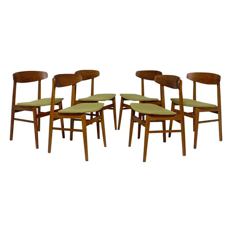 Set of Six Danish Teak Dining Chairs by SAX, circa 1960s