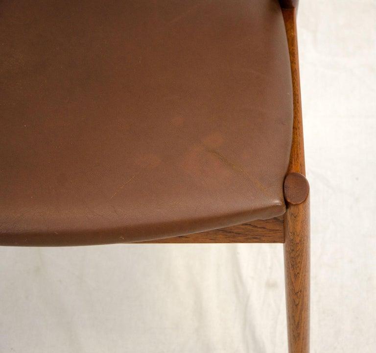 Set of Six Danish Teak Dining Chairs, Kai Kristiansen, Model 42 For Sale 6