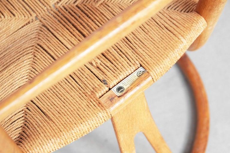 Set of Six Danish Wishbone Chairs CH 24 by Hans J. Wegner for Carl Hansen Oak For Sale 7