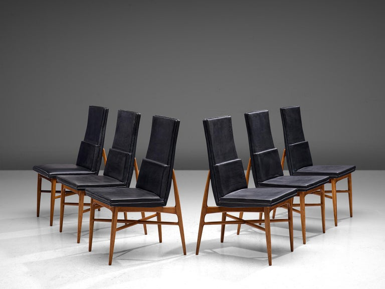 Set of Six De Coene 'Madison' Dining Chairs  In Good Condition For Sale In Waalwijk, NL