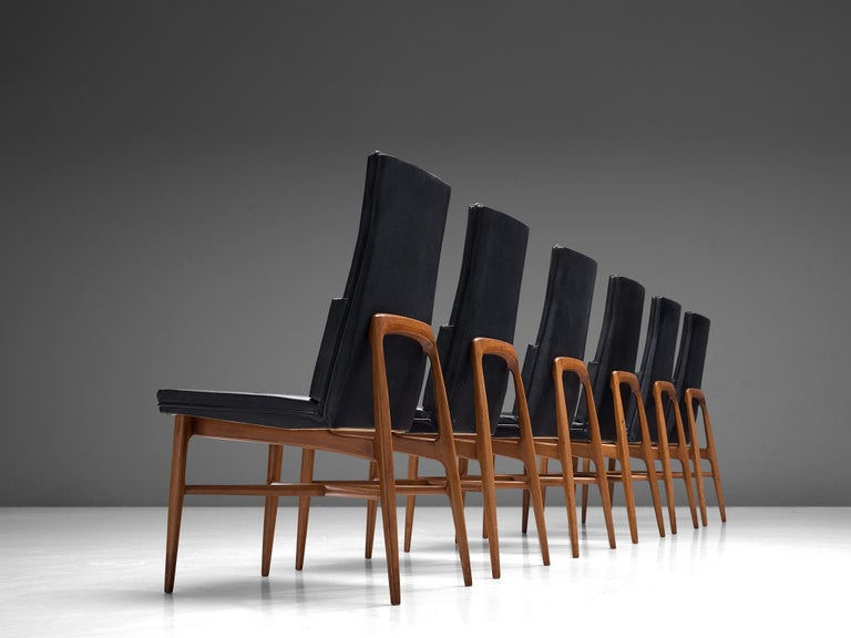 Set of Six De Coene 'Madison' Dining Chairs  For Sale 1