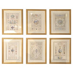 Set of Six Decorative Engravings Late 18th Century after Michelangelo Pergolesi