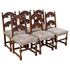 Set of Six Derbyshire Style Oak Chairs