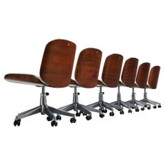 Set of Six Desk Chairs by Ico Parisi for MIM Roma