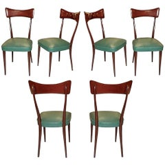 Set of Six Dining Chairs after Ico Parisi