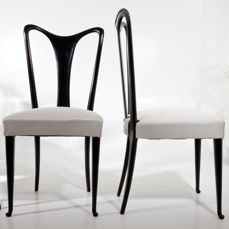 Set of Six Dining Chairs, Attributed to Guglielmo Ulrich, Italy 1940s 2