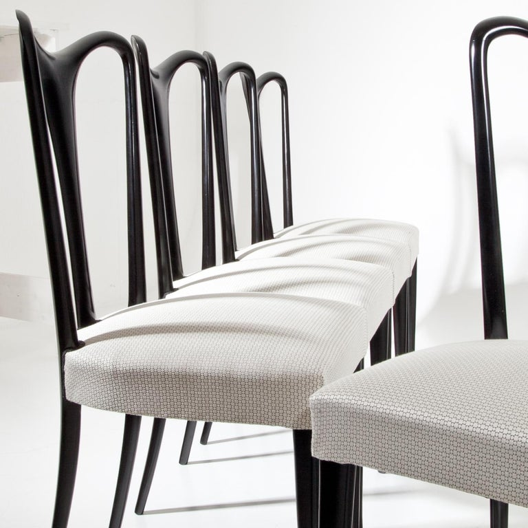 Set of Six Dining Chairs, Attributed to Guglielmo Ulrich, Italy 1940s 7