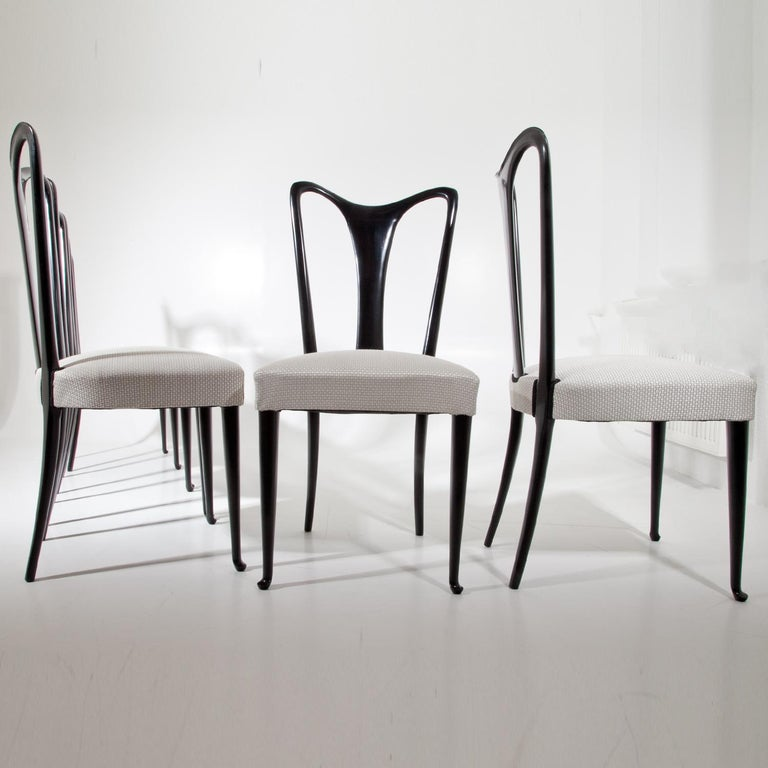 Set of Six Dining Chairs, Attributed to Guglielmo Ulrich, Italy 1940s 9