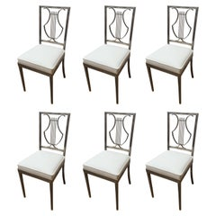 Set of Six Dining Chairs, Attributed to Maison Jansen, 1970s
