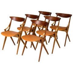 Set of Six Dining Chairs by Arne Hovmand-Olsen