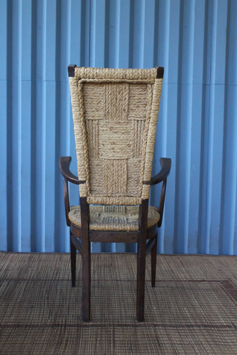 French Set of Six Dining Chairs by Audoux-Minet, France, 1950s For Sale