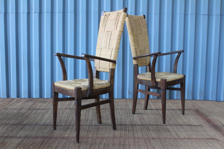 Set of Six Dining Chairs by Audoux-Minet, France, 1950s For Sale 2