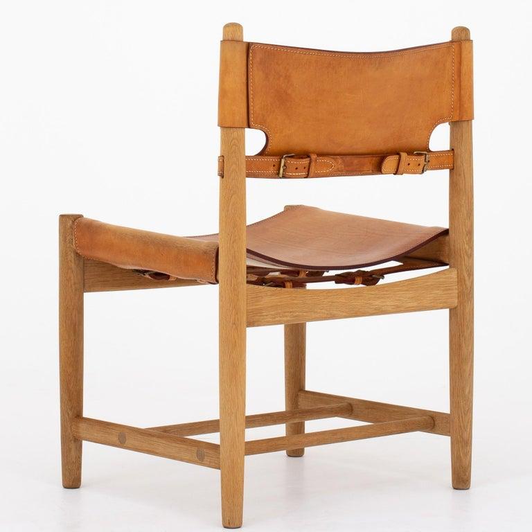 Scandinavian Modern Set of Six Dining Chairs by Børge Mogensen For Sale