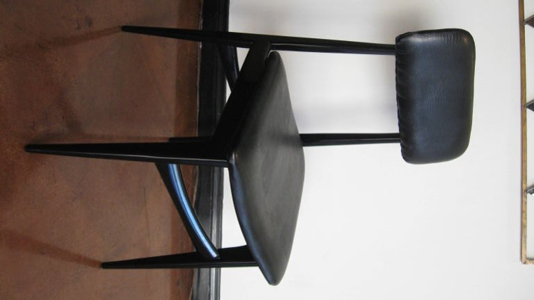 Set of Six Dining Chairs by Carlo Di Carli and Gio Ponti In Good Condition For Sale In Los Angeles, CA