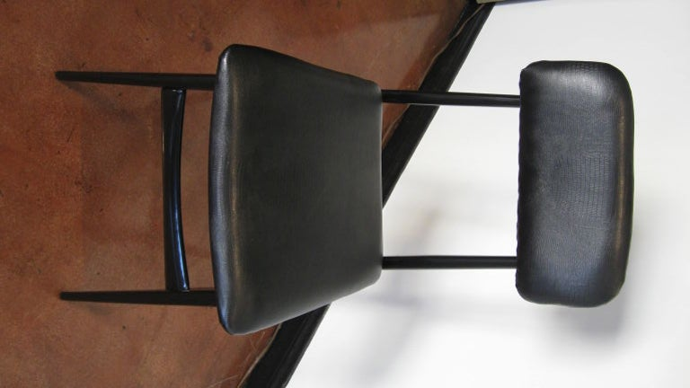 Mid-20th Century Set of Six Dining Chairs by Carlo Di Carli and Gio Ponti For Sale
