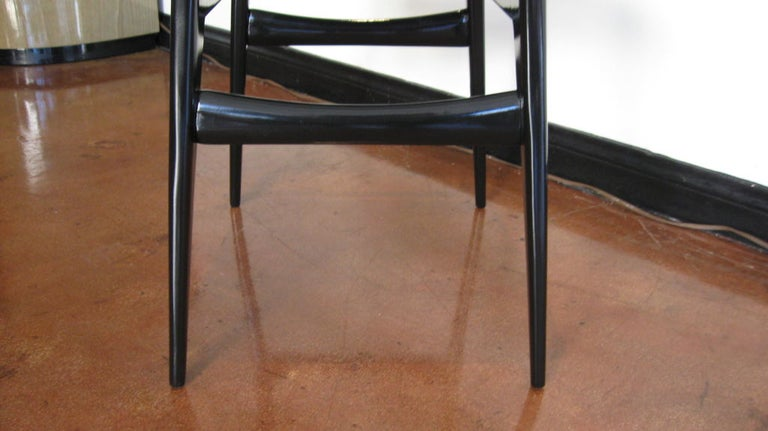 Set of Six Dining Chairs by Carlo Di Carli and Gio Ponti For Sale 1