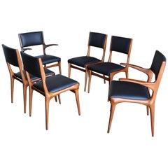 Set of Six Dining Chairs by Carlo di Carli