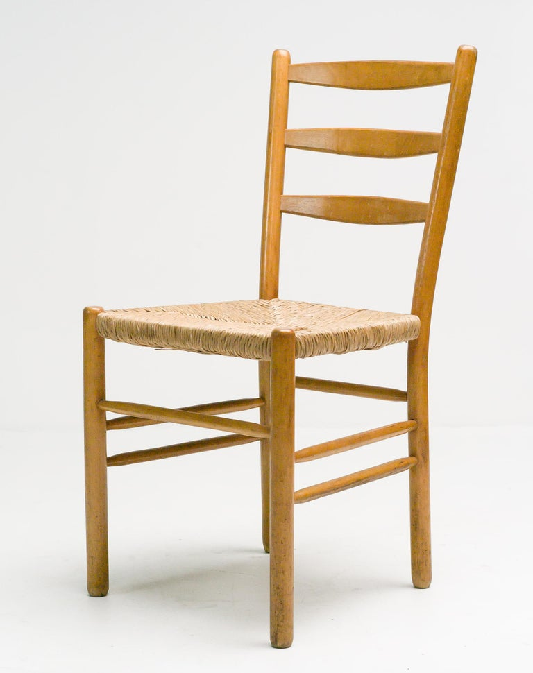 Mid-Century Modern Set of Six Dining Chairs by Cees Braakman For Sale