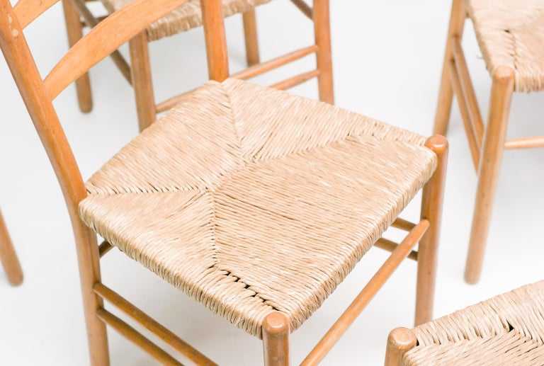 1950s Set of Six Dining Chairs by Cees Braakman For Sale