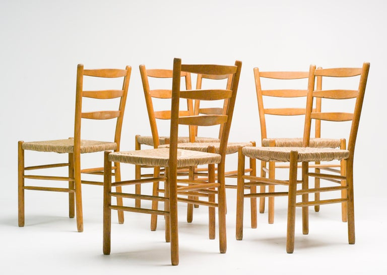 Set of Six Dining Chairs by Cees Braakman For Sale 2
