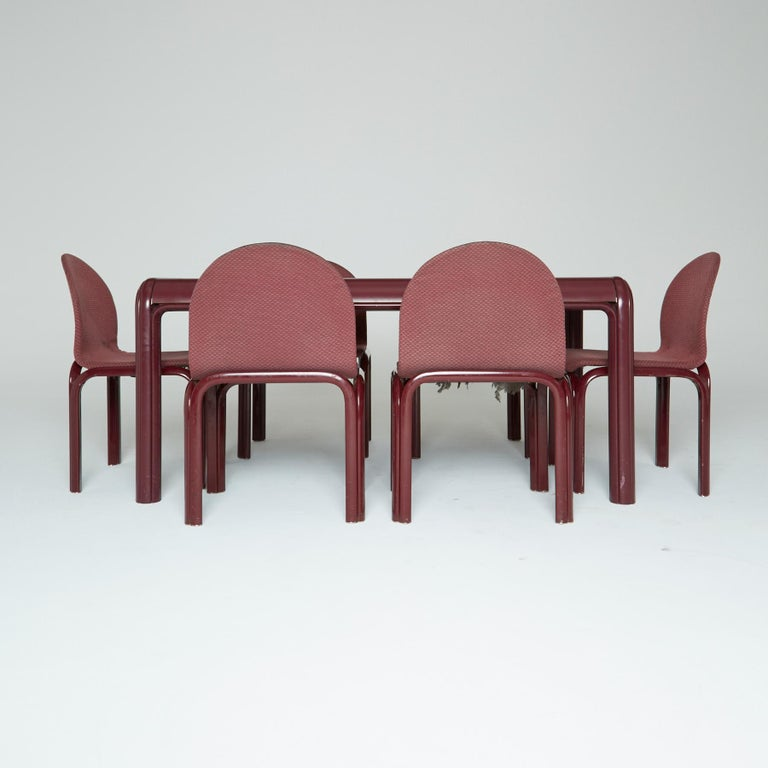 Set of Six Dining Chairs by Gae Aulenti for Knoll International, Signed, 1970s For Sale 2