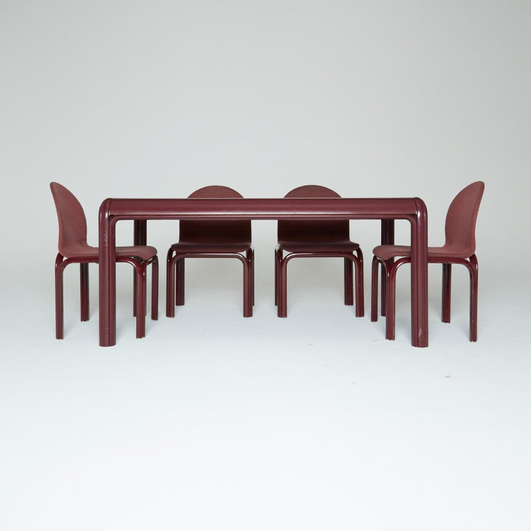 Set of Six Dining Chairs by Gae Aulenti for Knoll International, Signed, 1970s For Sale 3