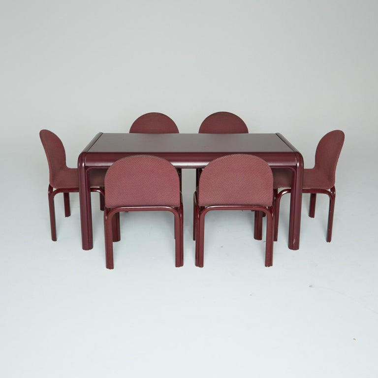 Set of Six Dining Chairs by Gae Aulenti for Knoll International, Signed, 1970s For Sale 4