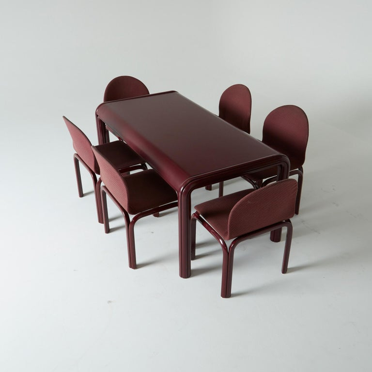 Set of Six Dining Chairs by Gae Aulenti for Knoll International, Signed, 1970s For Sale 6