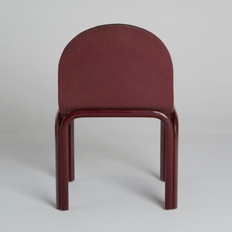 Set of Six Dining Chairs by Gae Aulenti for Knoll International, Signed, 1970s In Good Condition For Sale In Los Angeles, CA