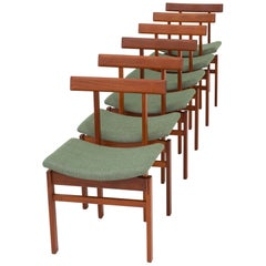 Set of Six Dining Chairs by Inger Klingenberg