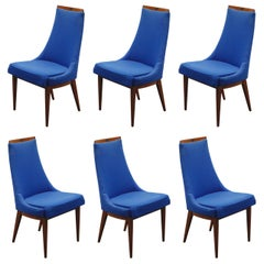 Set of Six Dining Chairs by Kipp Stewart for Calvin Furniture, circa 1960