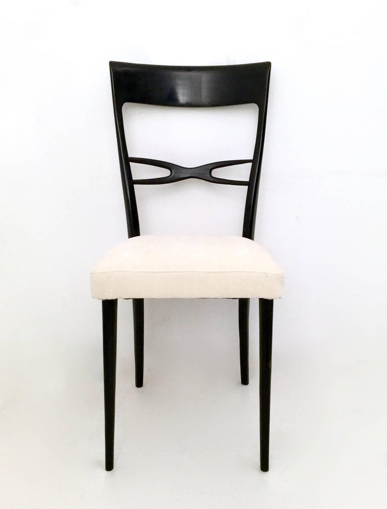Italian Set of Six Dining Chairs by Melchiorre Bega, Italy, Late 1940s-Early 1950s For Sale