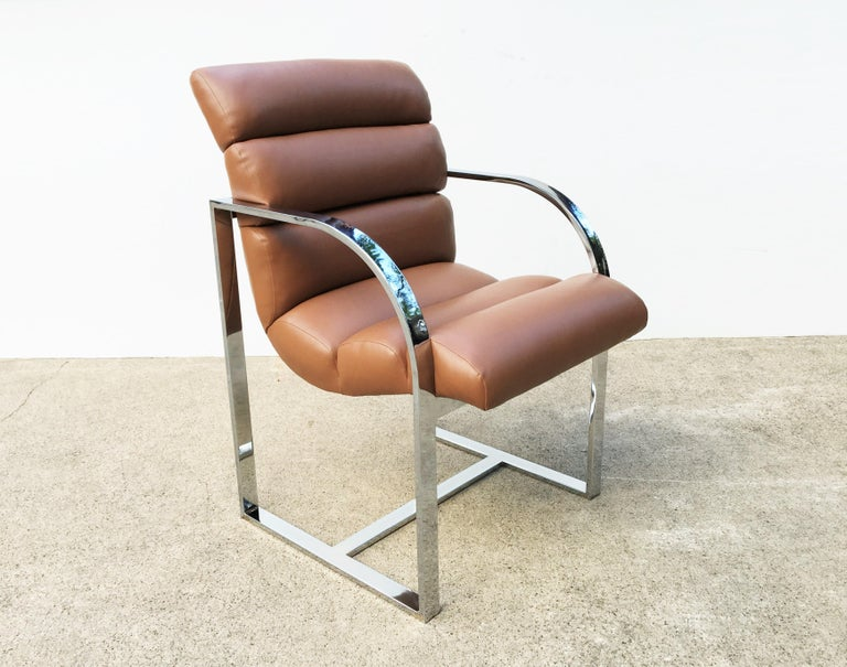 Mid-Century Modern Set of Six Dining Chairs by Milo Baughman for Thayer Coggin For Sale