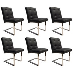 Set of Six Dining Chairs by Paul Evans for Directional, Mid-Century Modern
