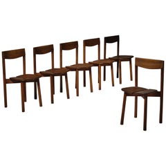 Set of Six Dining Chairs by Pierre Gautier Delaye, France, 1960s