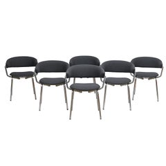 Set of Six Dining Chairs by Pierre Guariche