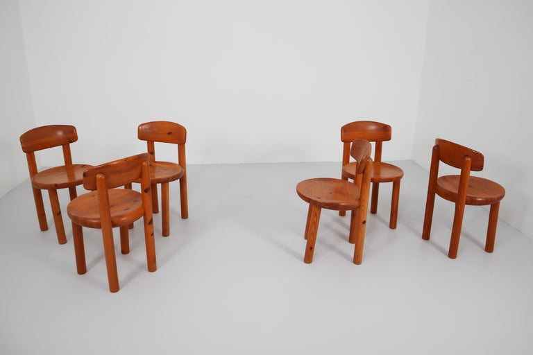 Set of Six Dining Chairs by Rainer Daumiller for Hirtshals Sawmill, Denmark For Sale 3