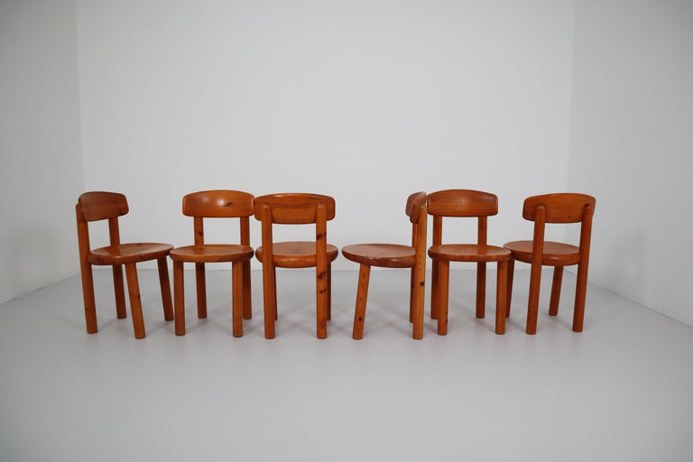 Set of Six Dining Chairs by Rainer Daumiller for Hirtshals Sawmill, Denmark For Sale 5