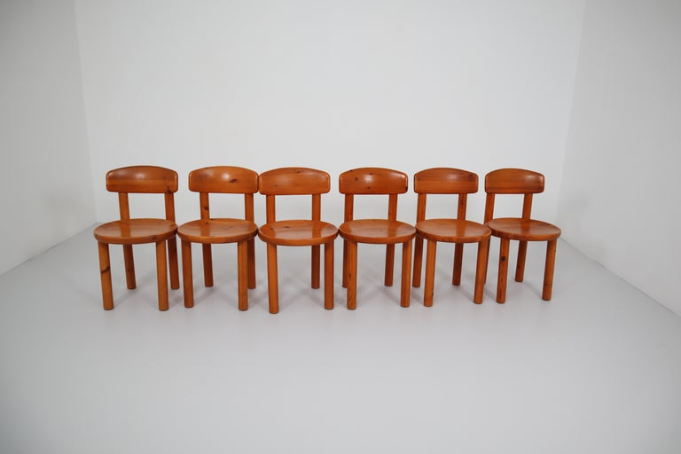 Set of Six Dining Chairs by Rainer Daumiller for Hirtshals Sawmill, Denmark For Sale 6