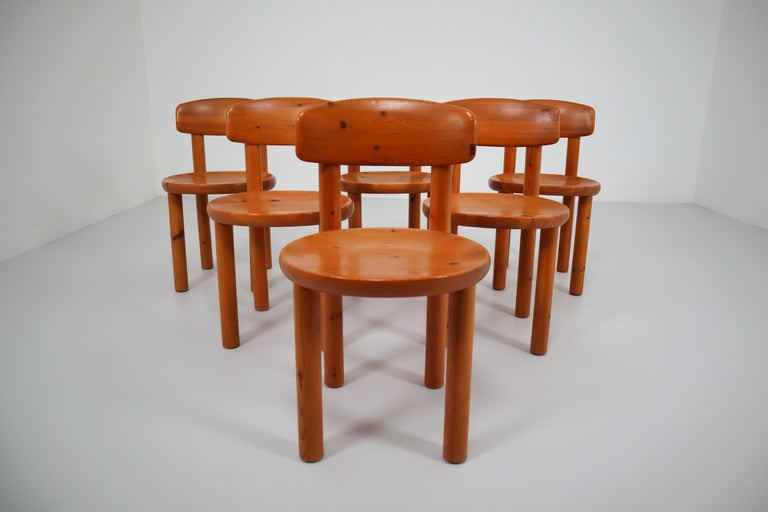 Set of Six Dining Chairs by Rainer Daumiller for Hirtshals Sawmill, Denmark For Sale 2