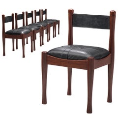 Set of Six Dining Chairs by Silvio Coppola